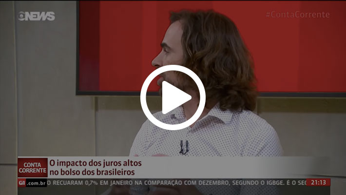 Print do vídeo 2 sobre a entrevista no programa Conta Corrente